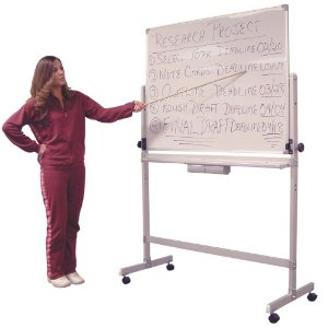 Double Sided Magnetic Portable Whiteboard