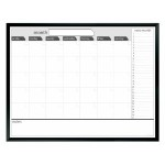 Board Dudes 3′ x 4′ Black Painted Framed Magnetic Dry Erase Calendar